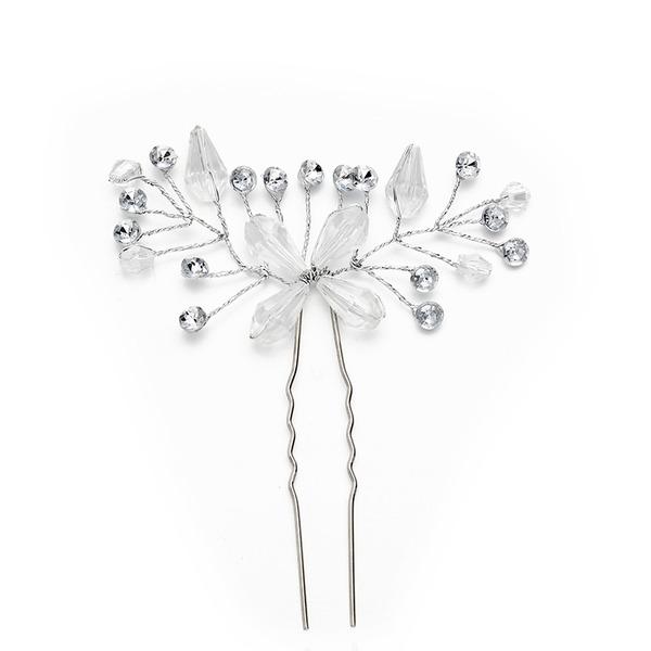 Damer Nydelig Crystal/Imitert Perle Hårnåler med Venetianske Perle/Crystal (Selges i ett stykke)