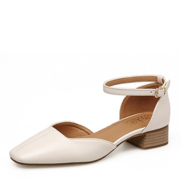 De mujer Cuero Planos Cerrados zapatos