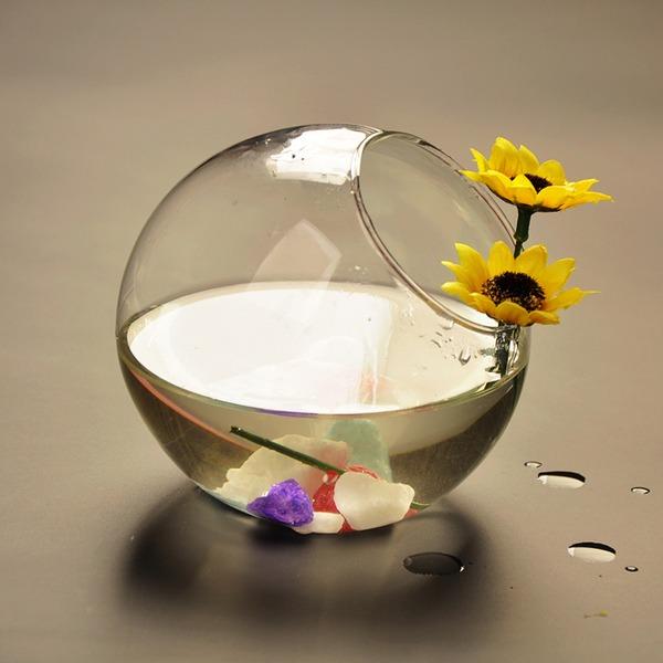 Durchmesser 8cm Einfache Glas Vase (In Einem Stück Verkauft)