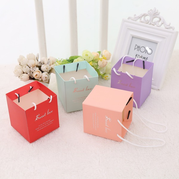 Cubic Card Paper Favor Bags (Set of 12)