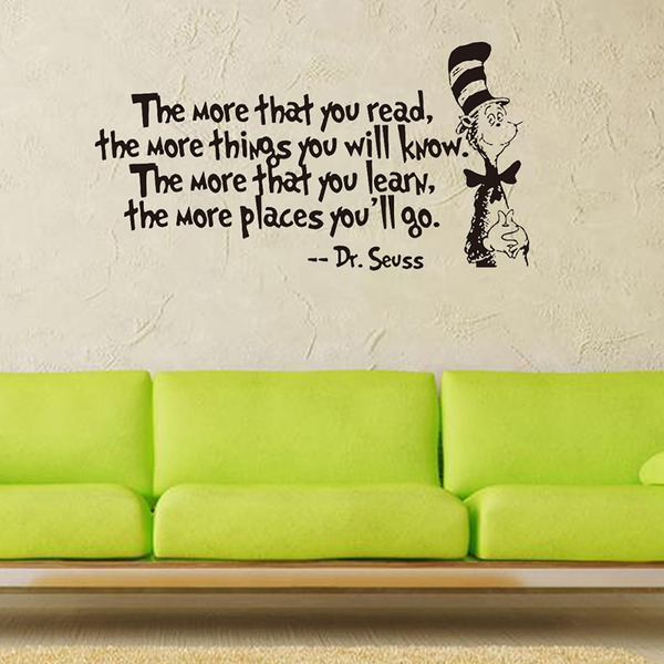 English rumor cartoon wall sticker (Sold in a single piece)