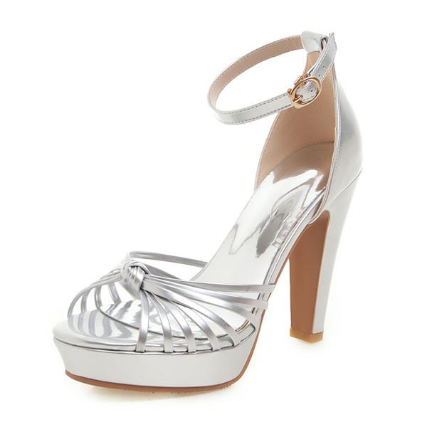 Femmes Similicuir Talon bottier Sandales Escarpins Plateforme À bout ouvert avec Ouvertes chaussures