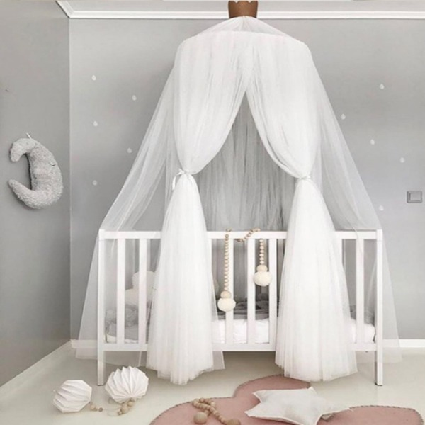 Princess Bed Canopy Mosquito Net for Kids Baby Crib Height 240cm (Sold in a single piece)