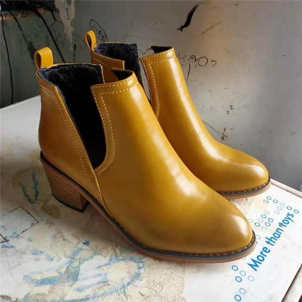 Women's PU Chunky Heel Boots With Split Joint shoes