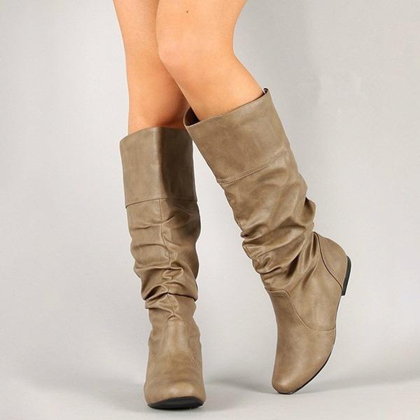 De mujer Cuero Tacón plano Botas Botas a la rodilla con Otros zapatos