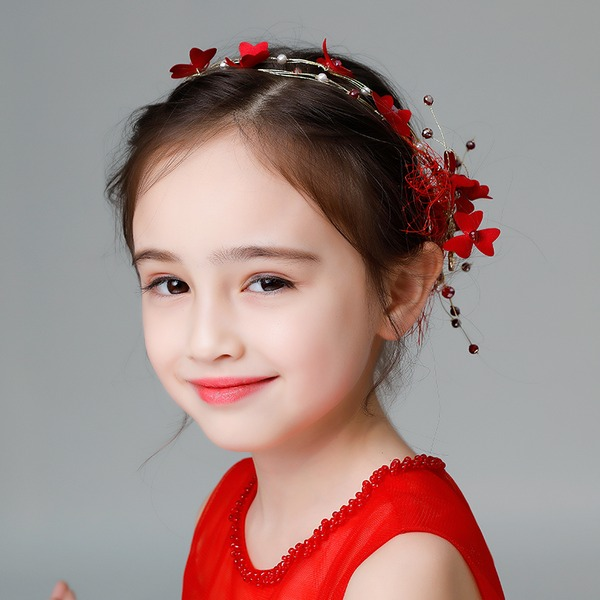 Crianças Moda Strass/Liga/Falso pérola/Flor de seda Diademas com Strass/Pérola Veneziano (Vendido em uma única peça)