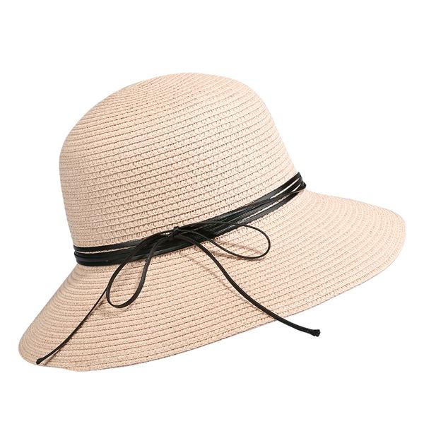 Damen Einfache/Nizza/Fantasie Papyrus mit Bowknot Strand / Sonne Hüte