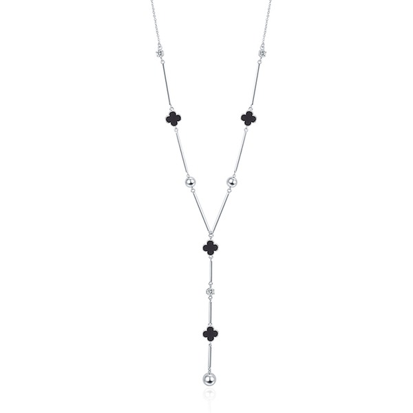 Clover Zircon Copper With Zircon Women's Fashion Necklace (Sold in a single piece)