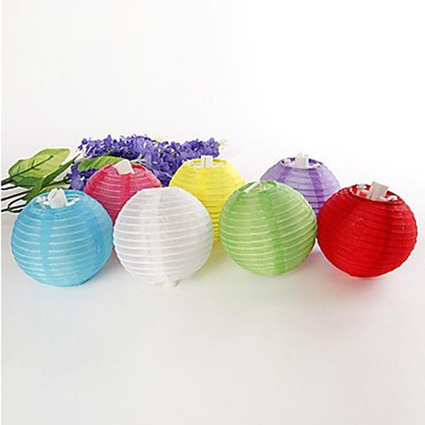 Enkel/Klassisk stil/Nice Härlig Silke Ballong och Lykta (sats om 6)