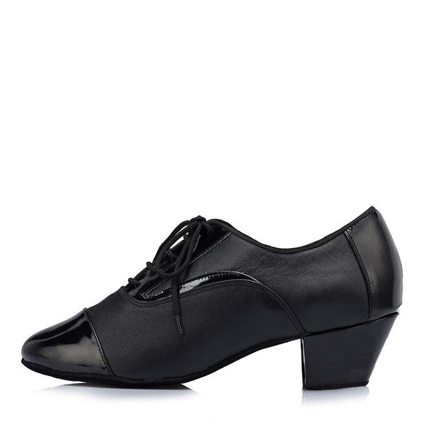 Мужская Натуральня кожа Латино Джаз с Шнуровка Обувь для танцев
