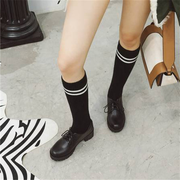 Women's PU Chunky Heel Knee High Boots With Lace-up shoes