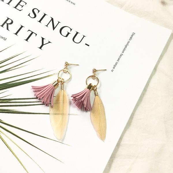 Мода сплав перо женские серьги