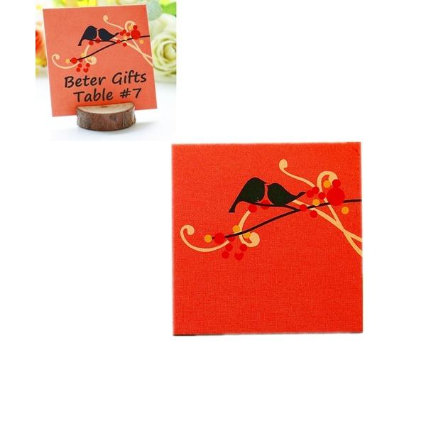 """Søde Dyr/""""Kærlighed fugl"""" Firkant Pap Papir Bordnummer Kort (sæt af 20)"""