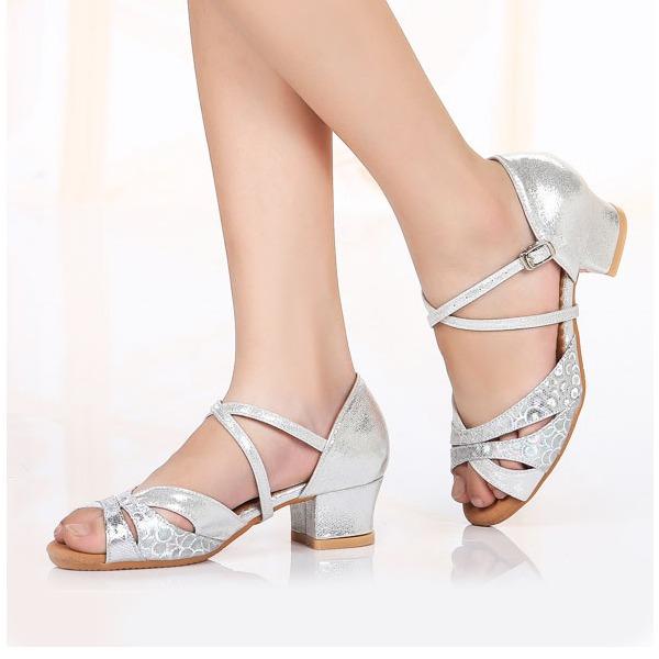 Kids' Leatherette Sparkling Glitter Heels Latin Dance Shoes