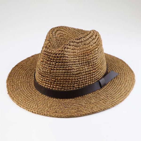 Män Vackra Och/Mode/Elegant/Enkel Flätad Sugrör Panama hatt