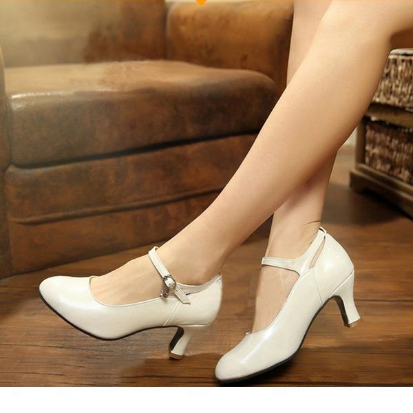 Donna Similpelle Stiletto Scarpe Personaggio con Listino alla caviglia Scarpe da ballo