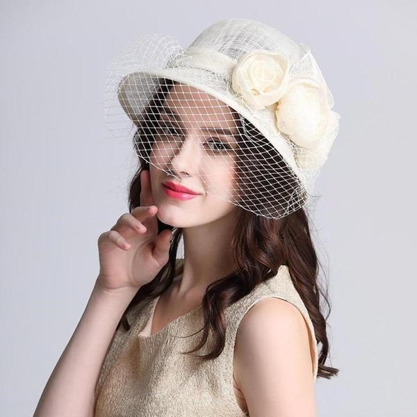 Ladies ' Udsøgt/Charmen/Fancy/Romantisk/Kunstnerisk Kambriske med Blomst Huen / Slouchy