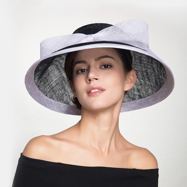 Damen Elegant Leinen mit Bowknot Schlapphut