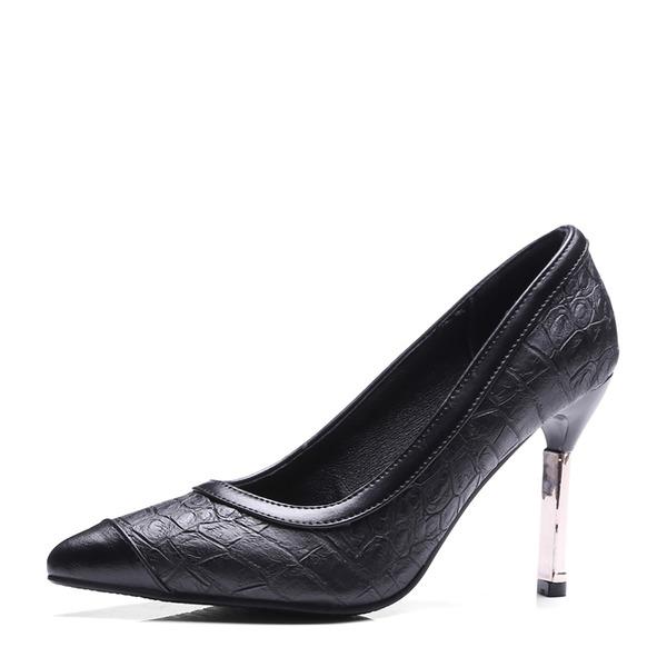 Femmes Similicuir Talon stiletto Escarpins Bout fermé avec Autres chaussures