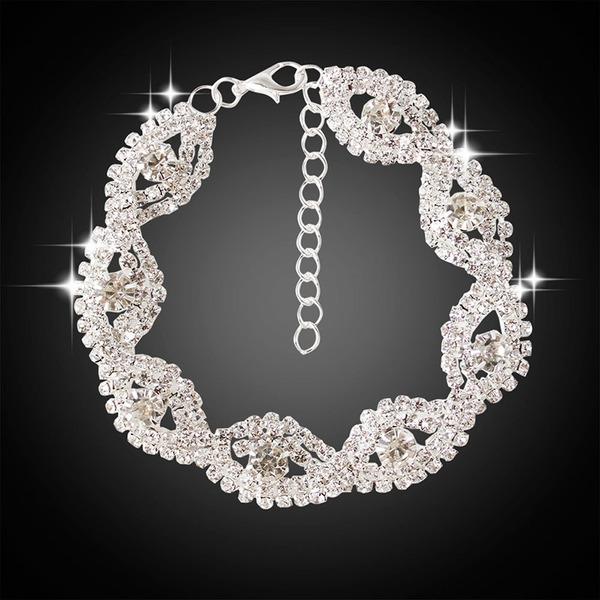 Brillant En alliage de zinc avec Imitation cristal Femmes Bracelets de mode (Vendu dans une seule pièce)