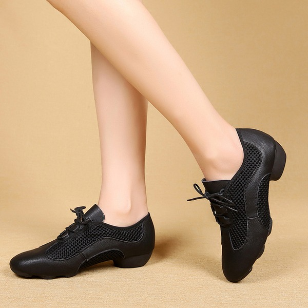 Femmes Vrai cuir Mesh Latin Modern Style Baskets Chaussures de danse