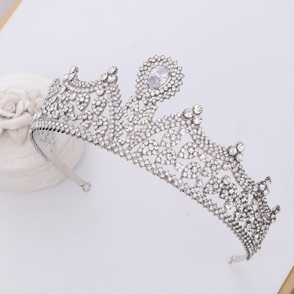 Ladies Vintage Rhinestone/Alloy Tiaras (Sold in single piece)
