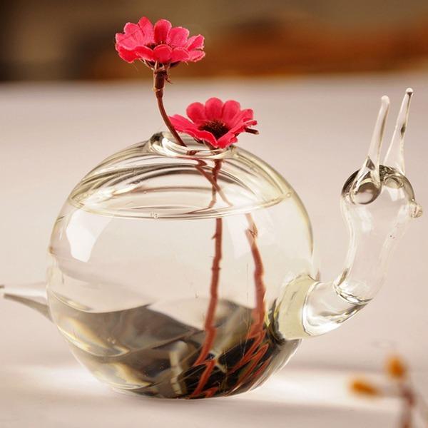 Sneglen utforming Glass Vase