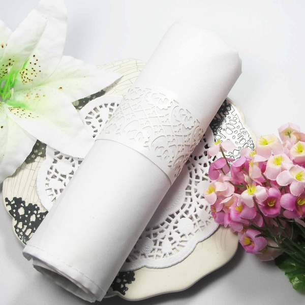 Floral Cut-out Napkin Rings (Set of 12)