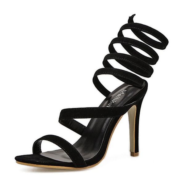 Kvinnor Mocka Stilettklack Sandaler Pumps Peep Toe Slingbacks med Andra skor