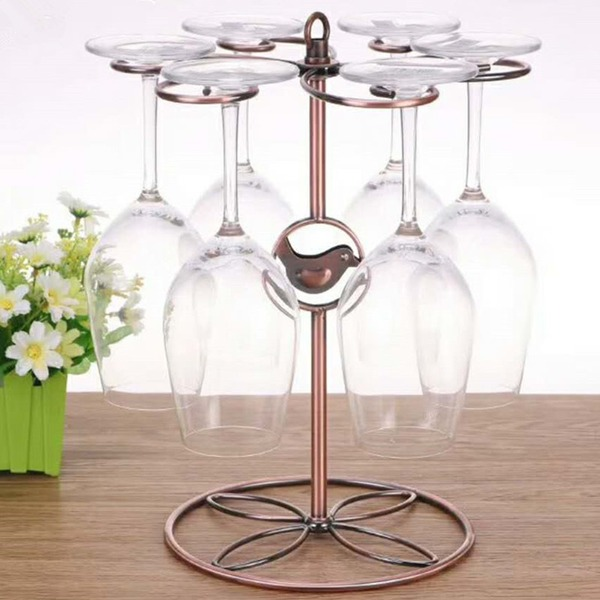 elegant classic Plating Wine Rack