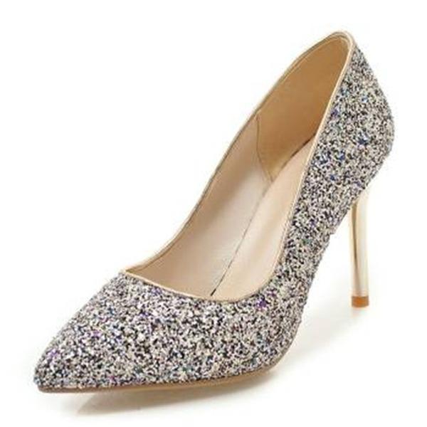 Dla kobiet Byszczący brokat Obcas Stiletto Czólenka Zakryte Palce obuwie