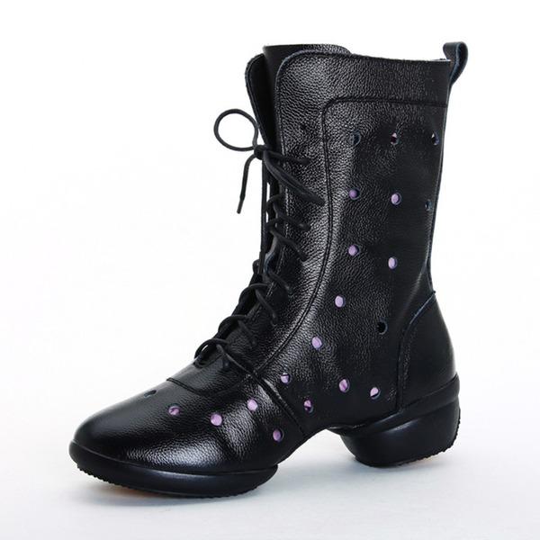 Frauen Echtleder Tanzschuhe Moderner Style Sneakers Ballsaal Tanzschuhe