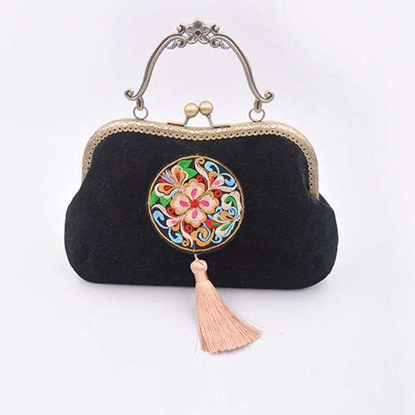 Elegant Samt Handtaschen/Wristlet Taschen/Henkeltaschen/Braut Geld-Beutel