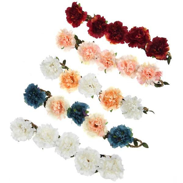 Kaunis Piilota Rope päähine kukka -