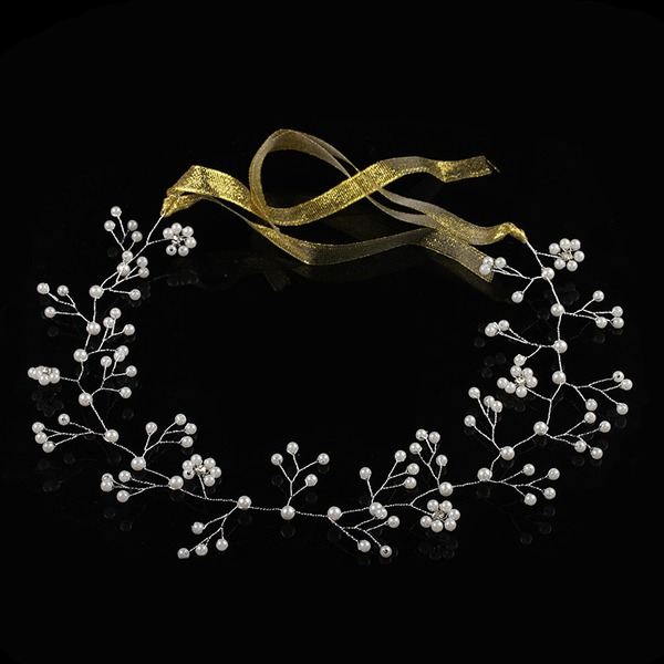 Alloy/Imitation Pearls Headbands With Venetian Pearl (Sold in single piece)