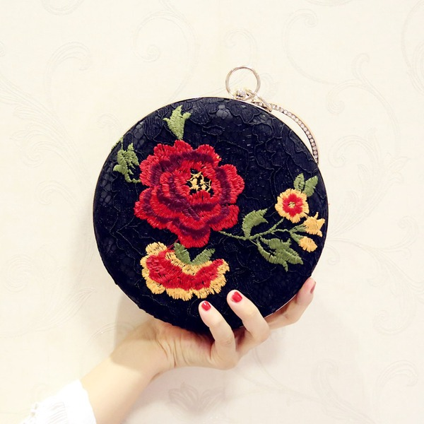 Elegant Polyester/Embroidery Clutches