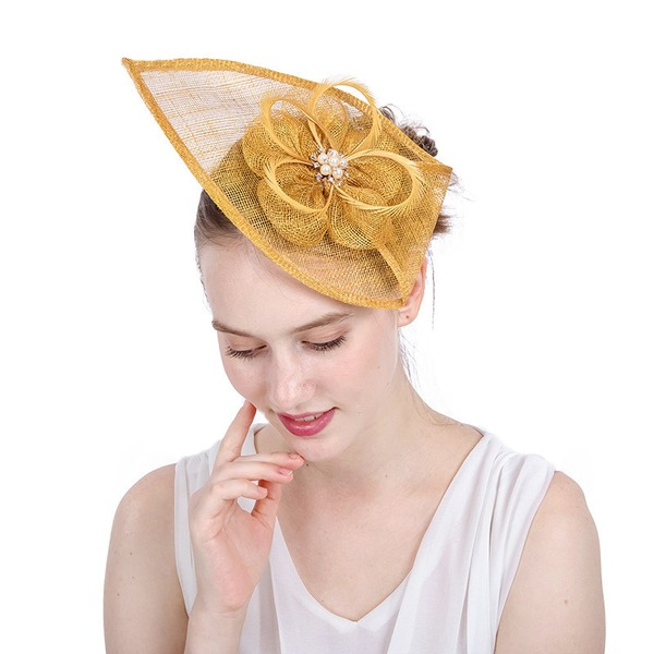 Dames Handgemaakte/Heetste Batist met Strass/Imitatie Parel Fascinators/Kentucky Derby Hats