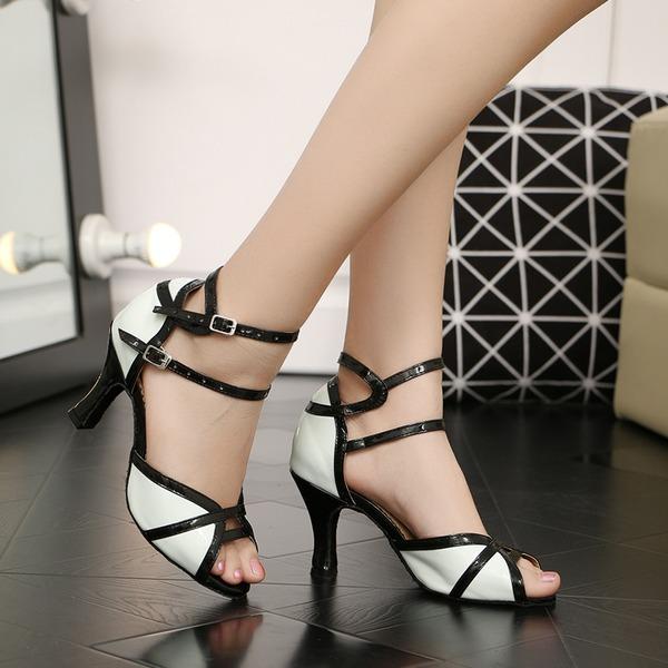 De mujer Cuero Tacones Sandalias Danza latina Zapatos de danza