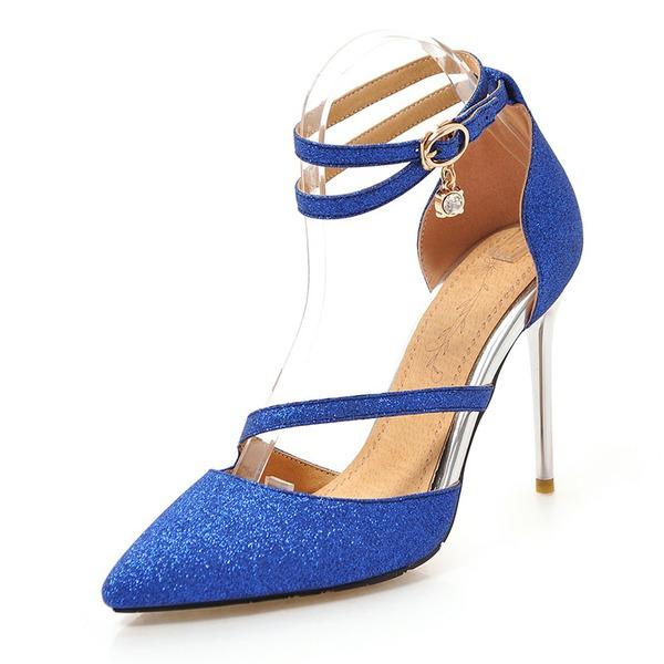 Dla kobiet Skóra ekologiczna Obcas Stiletto Czólenka Zakryte Palce Z Klamra obuwie