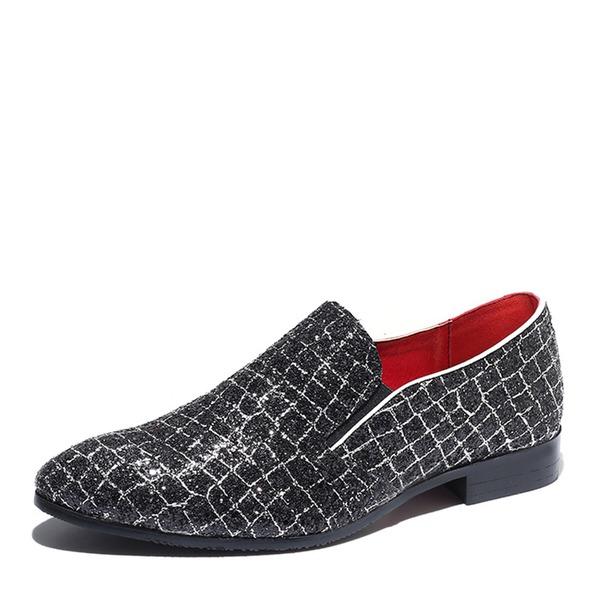 Mannen Sprankelende Glitter Penny Loafer Casual Loafers voor heren