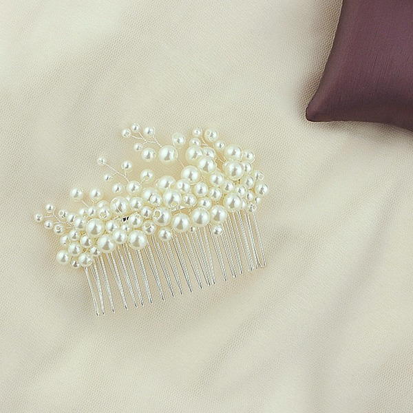 Damen Hübsche Legierung Kämme und Haarspangen mit Venezianischen Perle (In Einem Stück Verkauft)