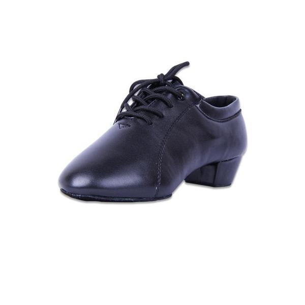 Hommes Enfants Similicuir Talons Latin Salle de bal Pratique Chaussures de Caractère avec Dentelle Chaussures de danse