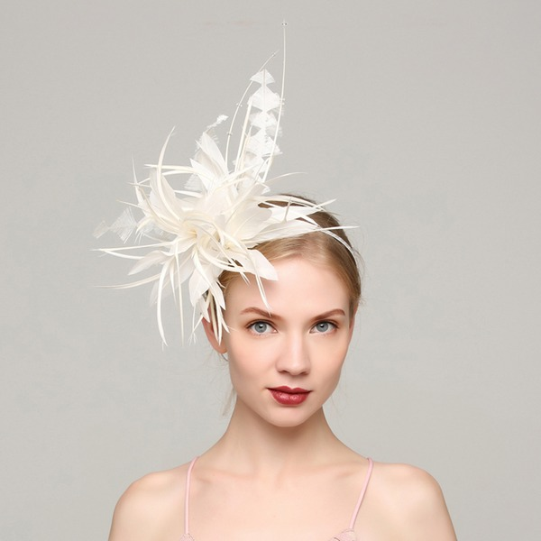 Dames Élégante Feather avec Feather Chapeaux de type fascinator