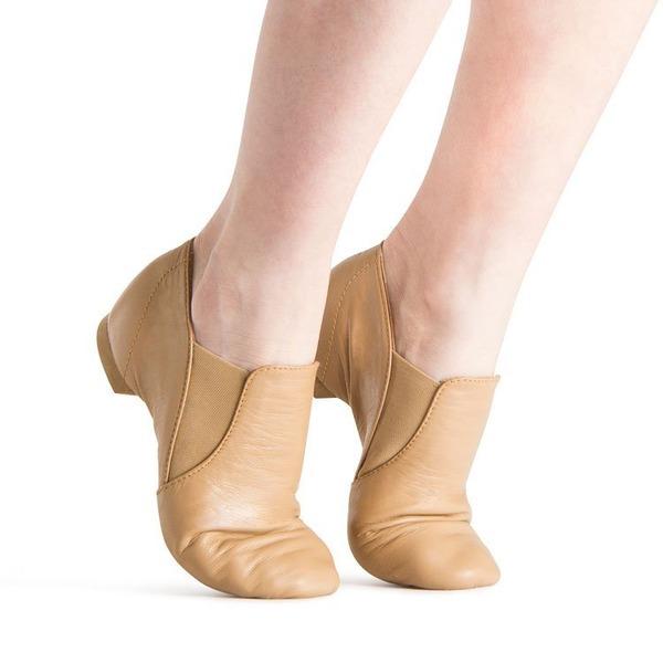 Mulheres Couro Sem salto Jazz Sapatos de dança