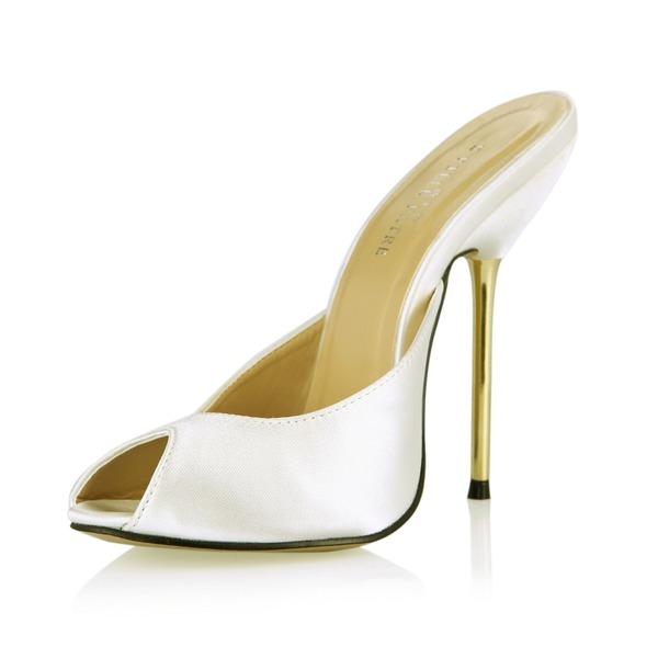 Vrouwen Satijn Stiletto Heel Sandalen Pumps Slingbacks schoenen