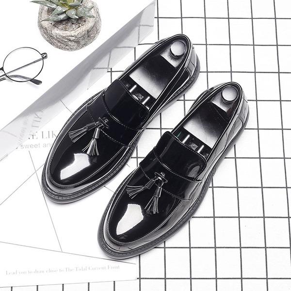 Erkek mikrofiber deri Püskül Makosenleri Gündelik Erkek Makosen Ayakkabı