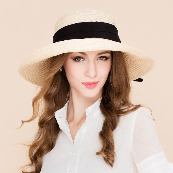 Dames Mode Rotin paille Chapeau de paille/Chapeaux de plage / soleil/Kentucky Derby Des Chapeaux
