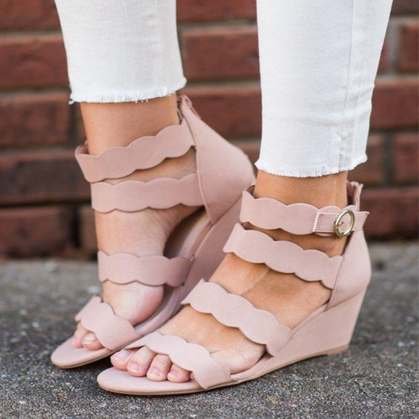 Women's Suede Wedge Heel Sandals shoes