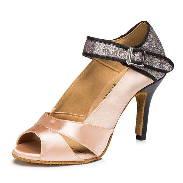 Donna Raso Glitter scintillanti Sandalo Latino Scarpe da ballo