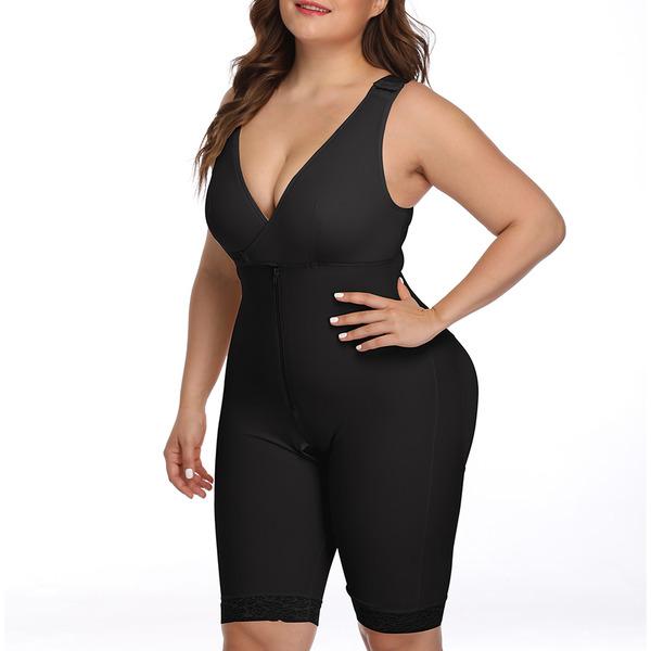 Damen Elegant/Anhänger Polyester/Elasthan Bodysuit Formwäsche